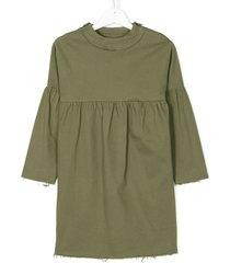 andorine frayed hem dress - green