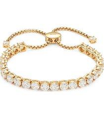 adriana orsini women's goldtone & crystal bolo bracelet