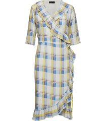 agota-wrap_whitecheck jurk knielengte multi/patroon storm & marie
