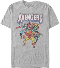 marvel men's comic collection retro earths mightiest heroes short sleeve t-shirt