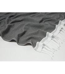 coyuchi mediterranean bath organic cotton guest towel in shadow w/deep pewter at nordstrom