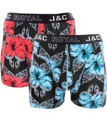 j&c heren boxer 2 pak 30062-l