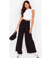 womens arms wide open high-waisted pants - black