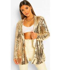 getailleerde blazer met pailletten, goud