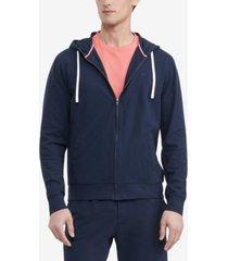 tommy hilfiger men's comfort pique full-zip hoodie