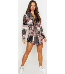 paisley blouse jurk, roze
