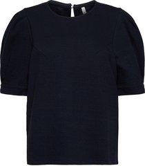 pzamra blouse blouses short-sleeved blå pulz jeans