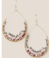 frida bead teardrop earrings in mauve - mauve