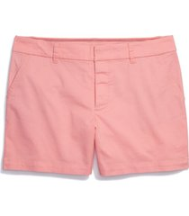 tommy hilfiger adaptive women's stretch shorts with velcro closure & magnetic fly