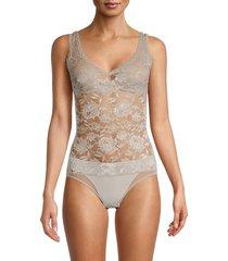 cosabella women's never lace bodysuit - black - size s
