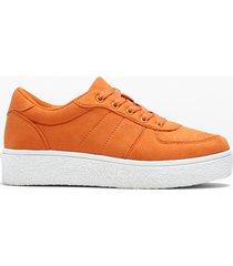sneaker con plateau (arancione) - rainbow