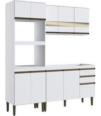 cozinha completa casamia casablanca, branco, 3 peças - 191284