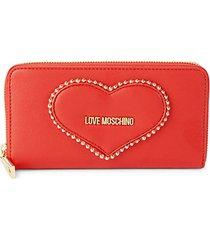 heart faux leather wallet