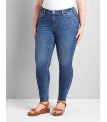lane bryant women's signature fit skinny jean 16p medkum denim