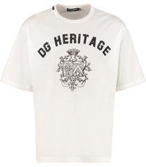 dolce & gabbana stretch cotton t-shirt