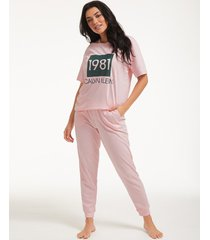 1981 bold lounge short sleeve pant set
