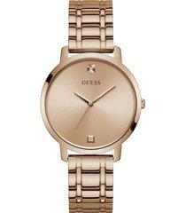 reloj guess nova / w1313l3 - oro rosa