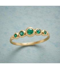 emerald quintet ring