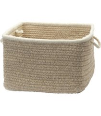 colonial mills natural style square braided basket