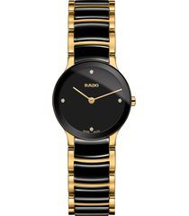 women's rado centrix diamond bracelet watch, 23mm