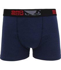 cueca bad boy boxer logo azul-marinho