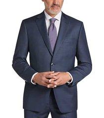 calvin klein men's heathered blue slim fit suit - size: 52 regular