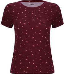 camiseta mini flores color vino, talla s