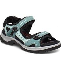 offroad shoes summer shoes flat sandals blå ecco