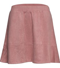 ava suede skirt kort kjol rosa rut & circle