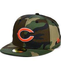 new era chicago bears woodland 59fifty cap