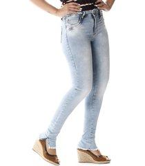 calça jeans sawary cigarrete up azul