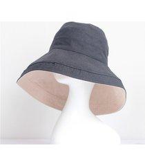 sombrero para mujer, pescador algodón femenino verano-gris