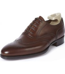 handmade full english oxford brogue leather shoes, handmade leather dress shoes
