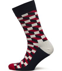 filled optic sock sockor strumpor blå happy socks