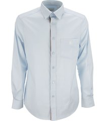 burberry chappel - monogram motif stretch cotton blend shirt