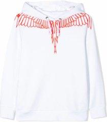 marcelo burlon white cotton sweatshirt