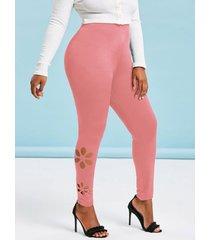 lacer cut side high waisted plus size basic leggings