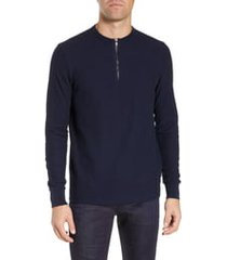 men's boss textor regular fit quarter zip thermal t-shirt
