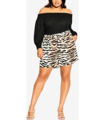 plus size tigress shorts