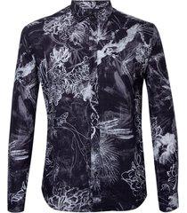 camisa john john chalk flowers masculina (estampado, gg)