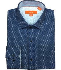 tallia men's slim fit geo print shirt and a free face mask