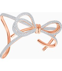 bracciale rigido lifelong bow, bianco, mix di placcature
