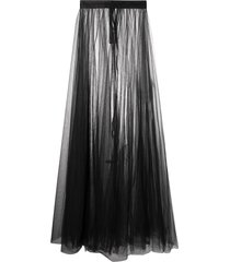 loulou sheer tulle skirt - black