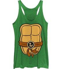 fifth sun teenage mutant ninja turtles women's leonardo body shot tri-blend tank top