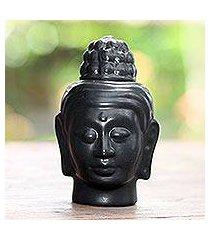 ceramic oil warmer, 'buddha head' (indonesia)