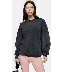 charcoal grey stone wash sweatshirt - charcoal