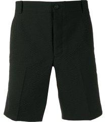 thom browne seersucker unconstructed shorts - black