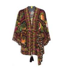 kimono tropicaliente - preto
