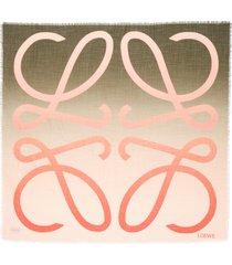 women's loewe ombre anagram wool scarf