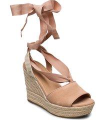 w.shiloh sandalette med klack espadrilles beige ugg